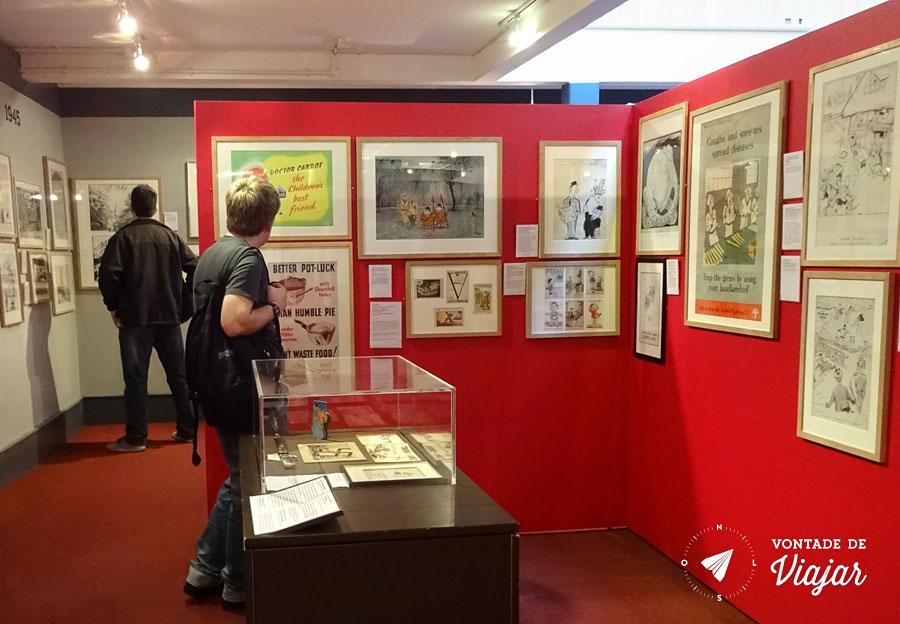 Cartoon Museum Londres - Exposicao charges da Segunda Guerra Mundial - foto do blog Vontade de Viajar