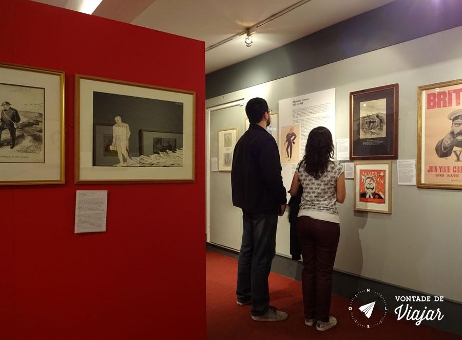Cartoon Museum Londres - Quadrinhos da Segunda Guerra Mundial - foto do blog Vontade de Viajar