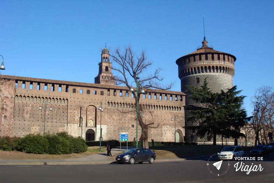 O que fazer em Milao - Castelo Sforzesco