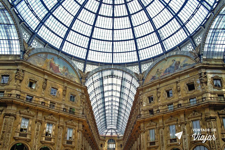 O que fazer em Milao - Galleria Vittorio Emanuelle II