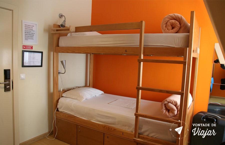 Onde ficar em Lisboa - Quarto no albergue em Lisboa
