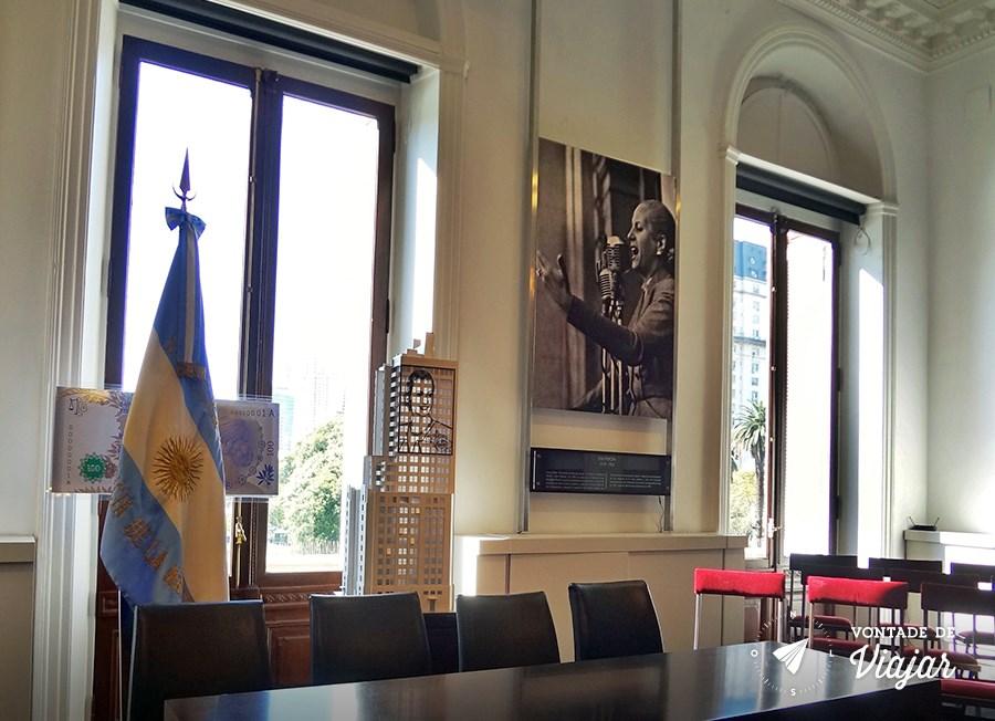 Casa Rosada - Poster com foto de Evita Peron