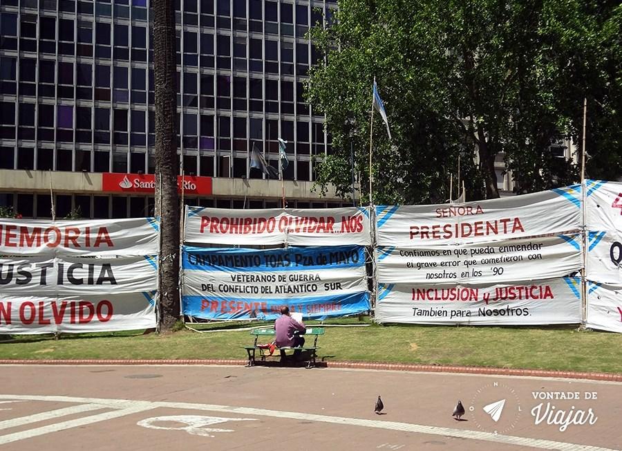 Casa Rosada - Protestos na Plaza de Mayo