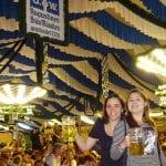 Festival de primavera na Alemanha - Tenda da cervejaria Augustiner - foto do blog Vontade de Viajar