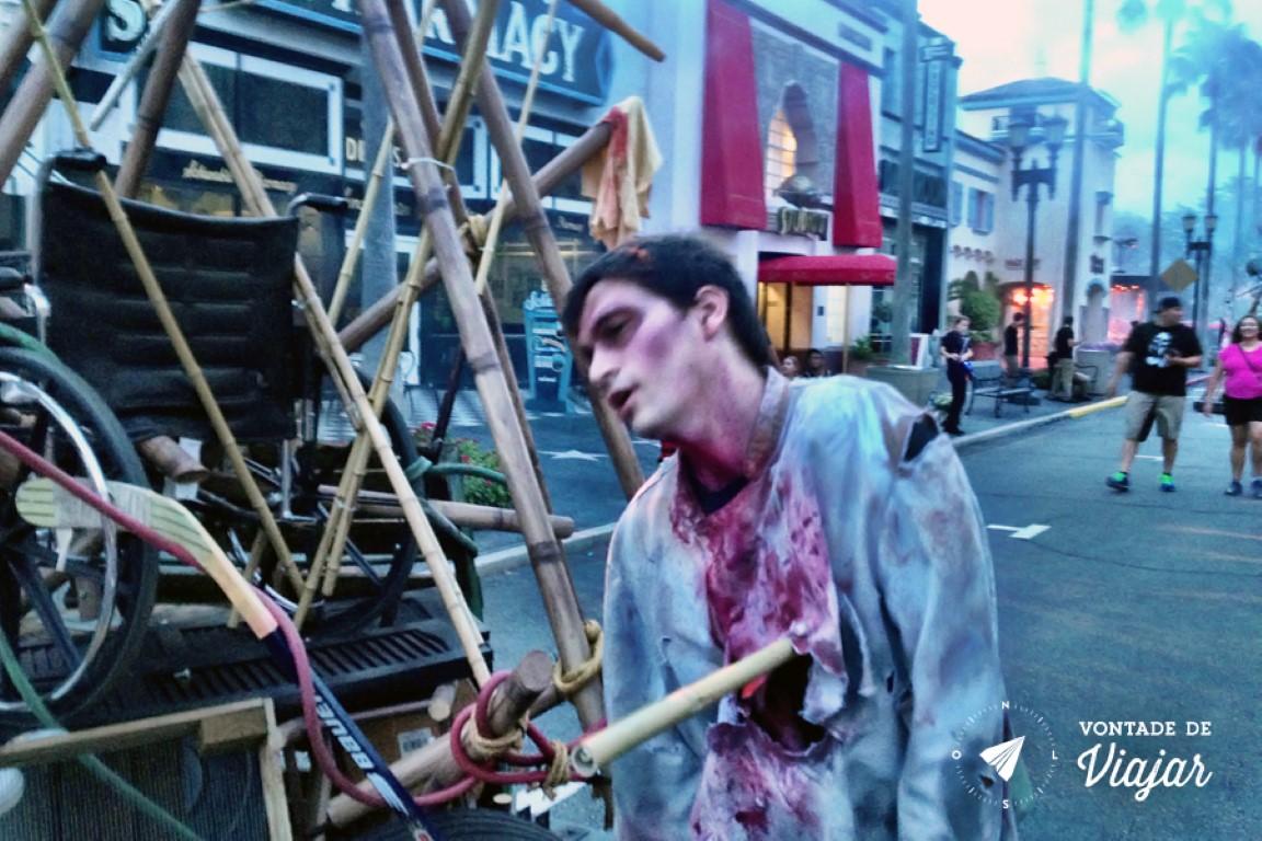 Halloween em Orlando - Zumbi na Universal