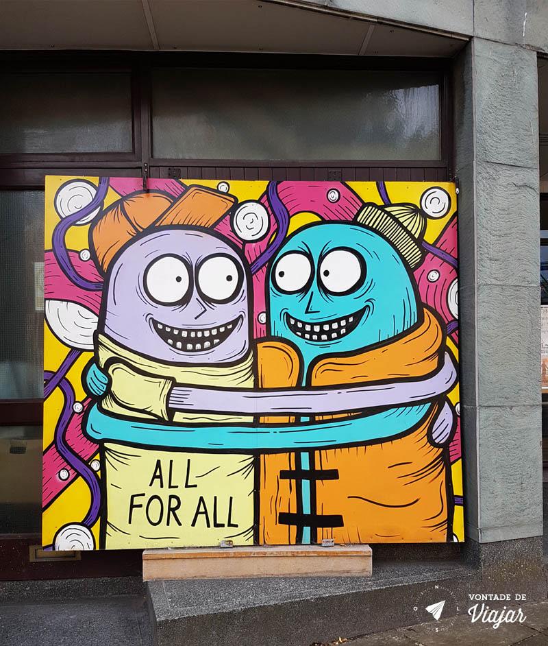O que fazer em Dundee Escocia - Street Art projeto Open Close