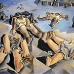 Salvador Dali - Figures Lying on the Sand