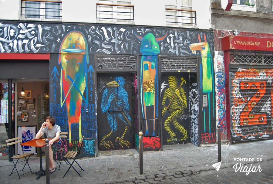Street Art em Paris - Graffitis no 10eme de Paris