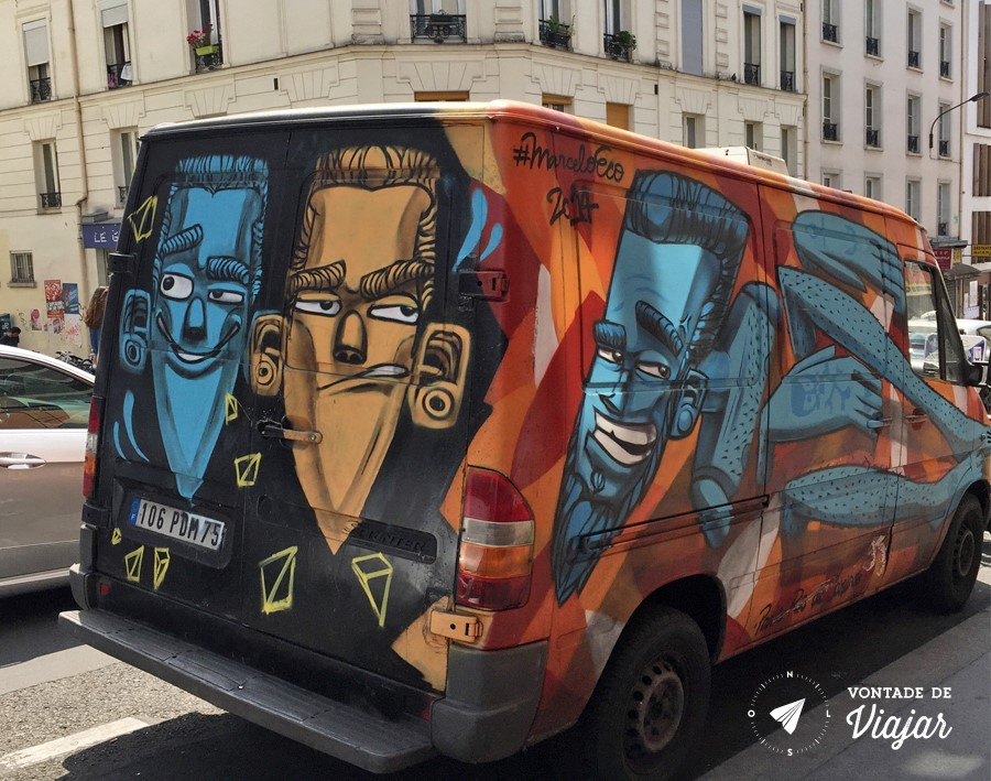 Street Art em Paris - Van Marcelo Eco em Paris