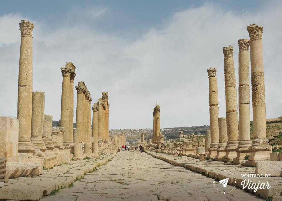 Jerash na Jordania - Cardo Maximus