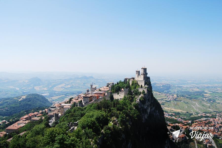 San Marino Italia - Vista da 1a Torre de San Marino