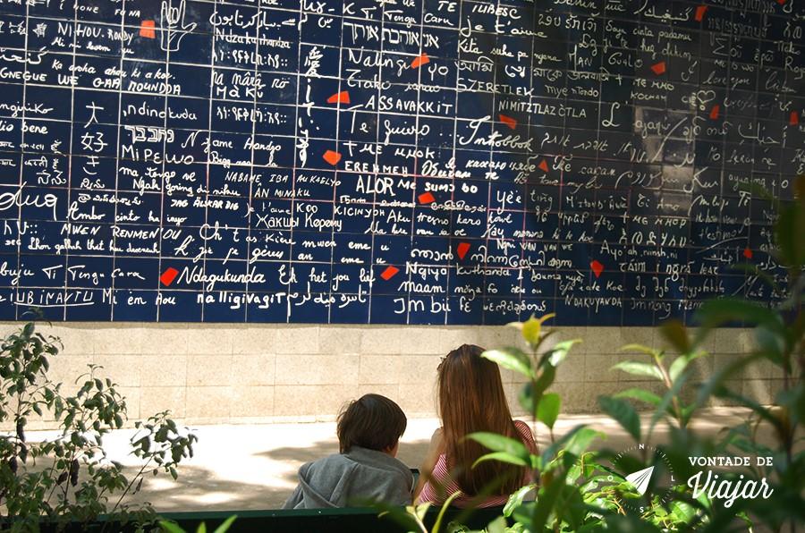 muro do eu te amo em paris - eu te amo em montmartre