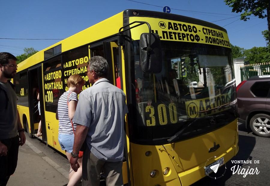 Como chegar em Peterhof - Onibus na volta de Peterhof para Sao Petersburgo