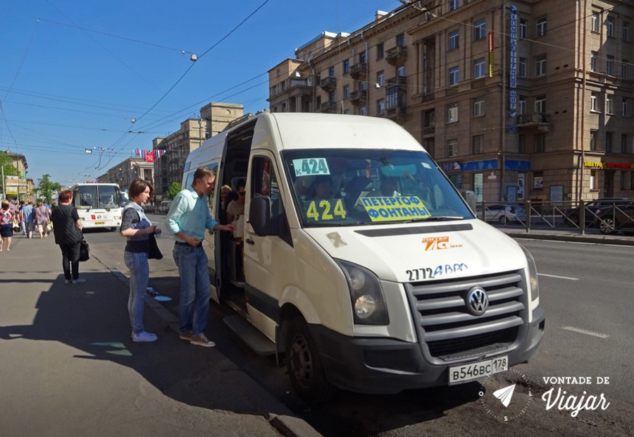 Como chegar em Peterhof - Van para Peterhof