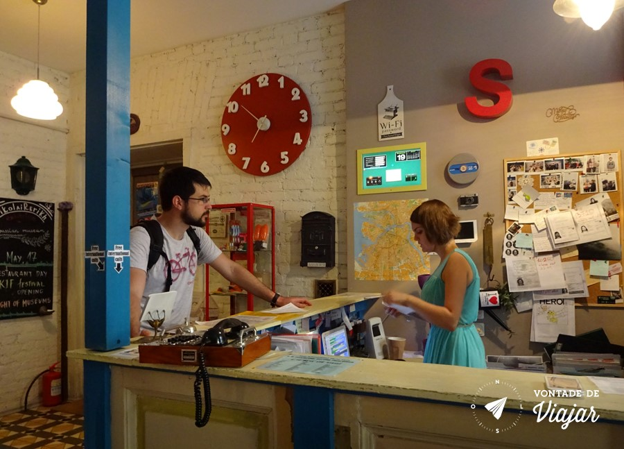 Hostel em Sao Petersburgo - Recepcao do Soul Kitchen