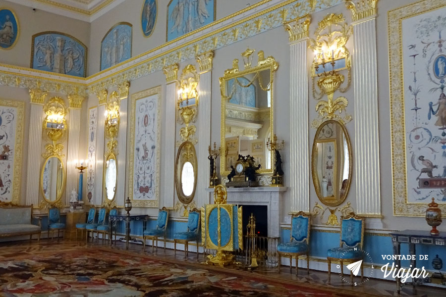 Tsarskoe Selo - Salao no Palacio de Catarina