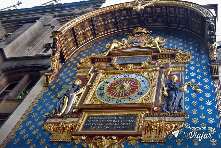 Horloge - Relogio azul e dourado em Paris