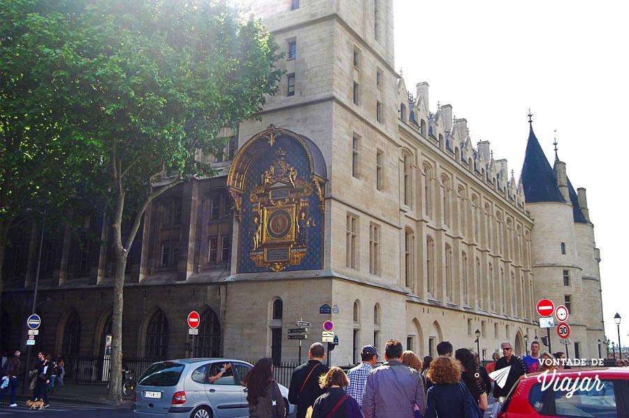 Horloge - Relogio do Palacio de Justica em Paris