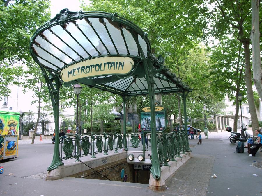 Metro de Paris - Estacao Abbesses - foto de Steve Cadman