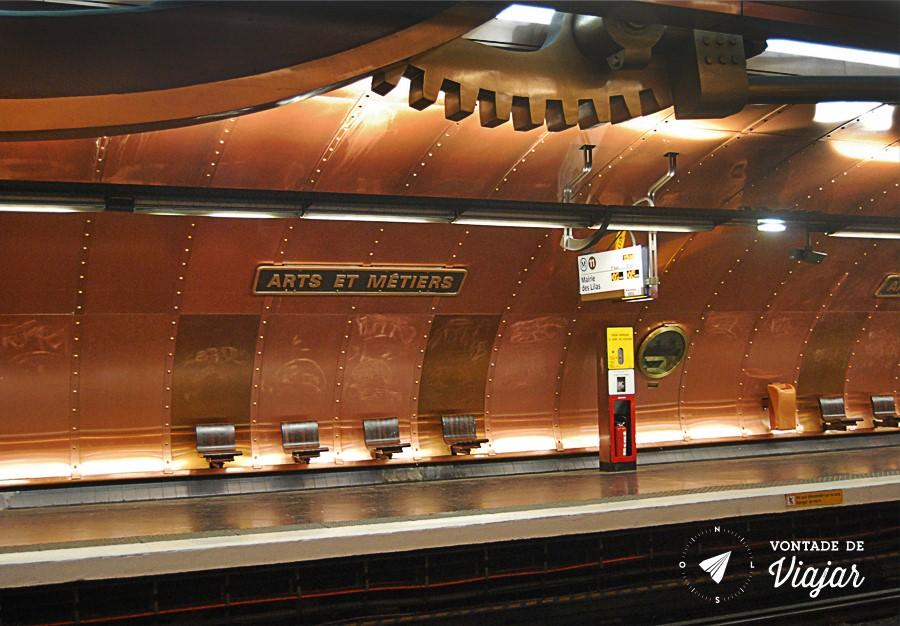 Metro de Paris - Estacao Arts et Metiers