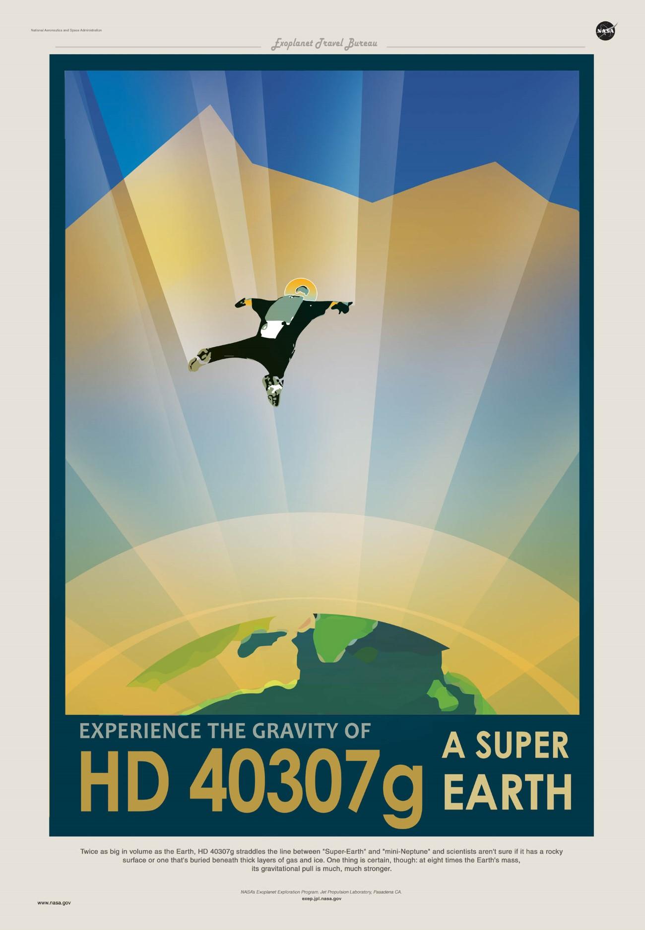 Poster viagem no espaco - NASA HD_40307g
