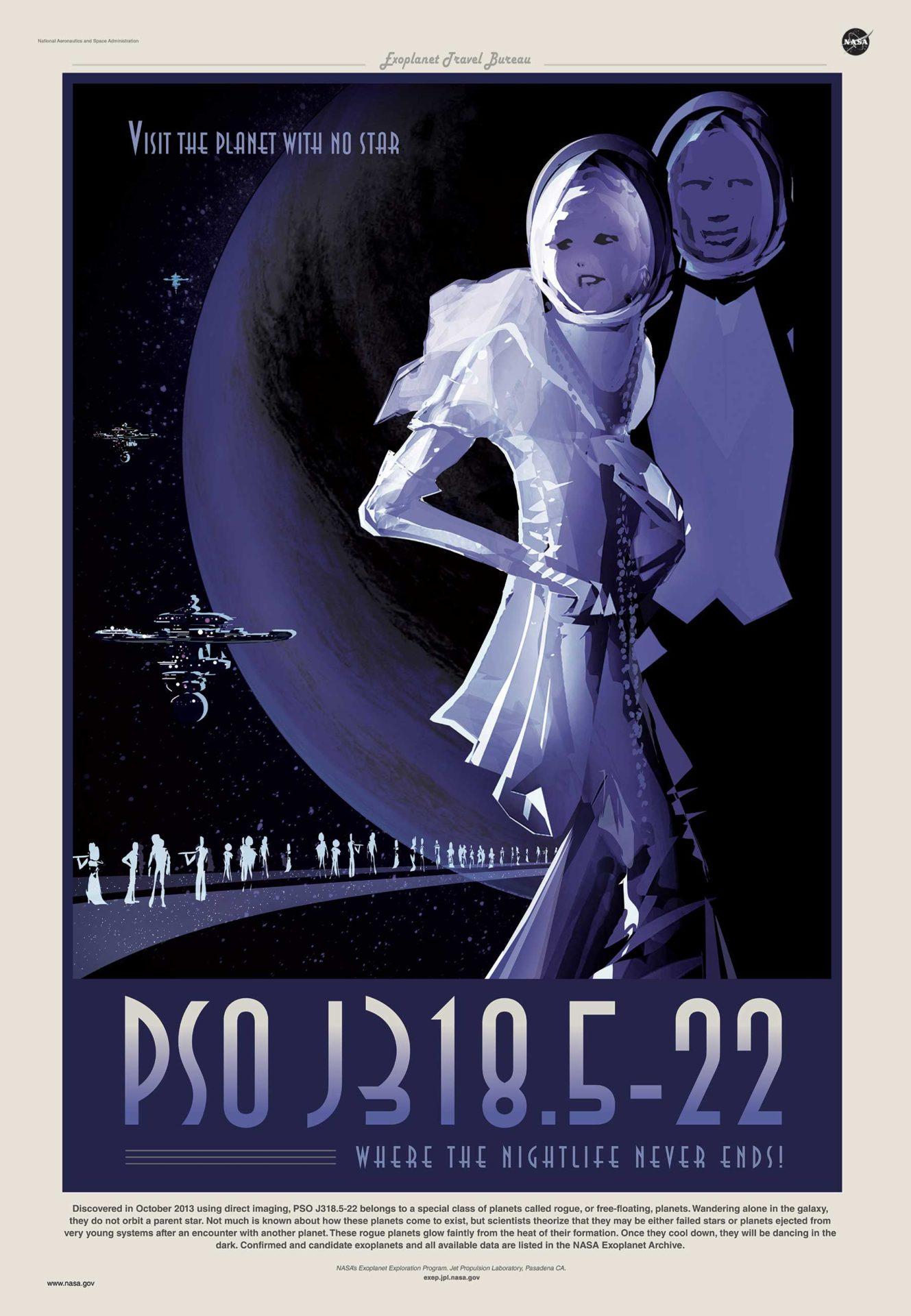 Poster viagem no espaco - NASA PSOJ3185-22