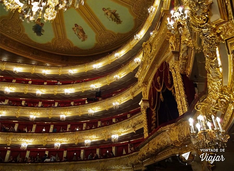 Russia Ballet Bolshoi - Camarote real no Teatro Bolshoi