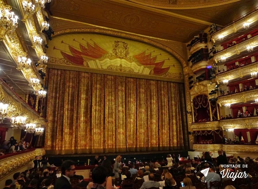 Russia Ballet Bolshoi - Palco Teatro Bolshoi em Moscou
