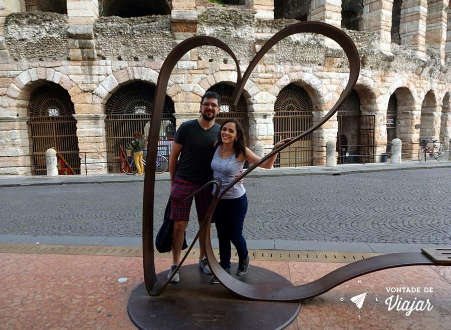 Romeu e Julieta historia - Coracao na Arena de Verona