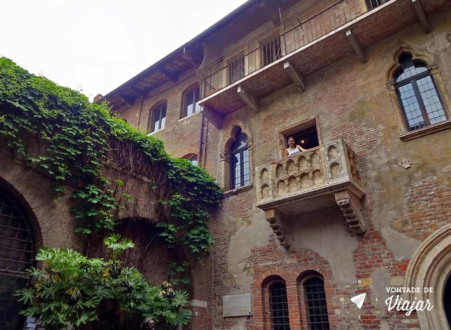 Romeu e Julieta História - Varanda da Casa de Julieta