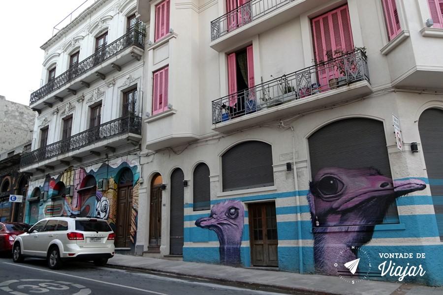 Street art em Montevidéu - Graffiti na Ciudad Vieja