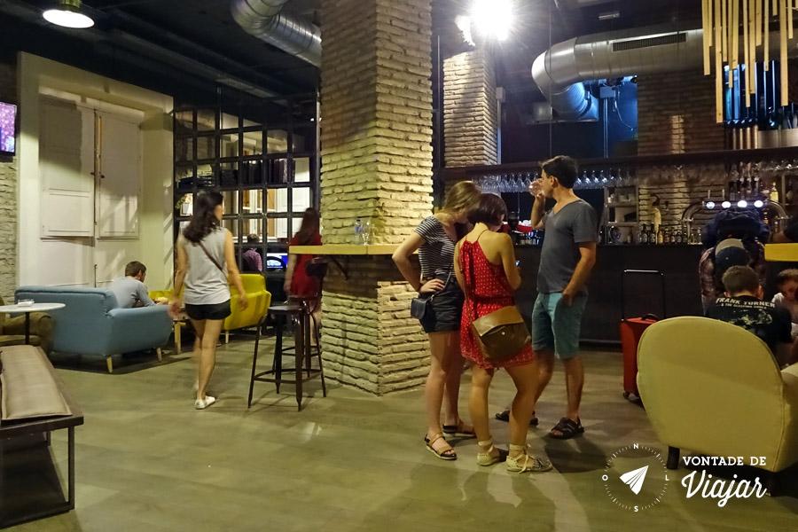 Hostel em Sevilha - Lounge bar