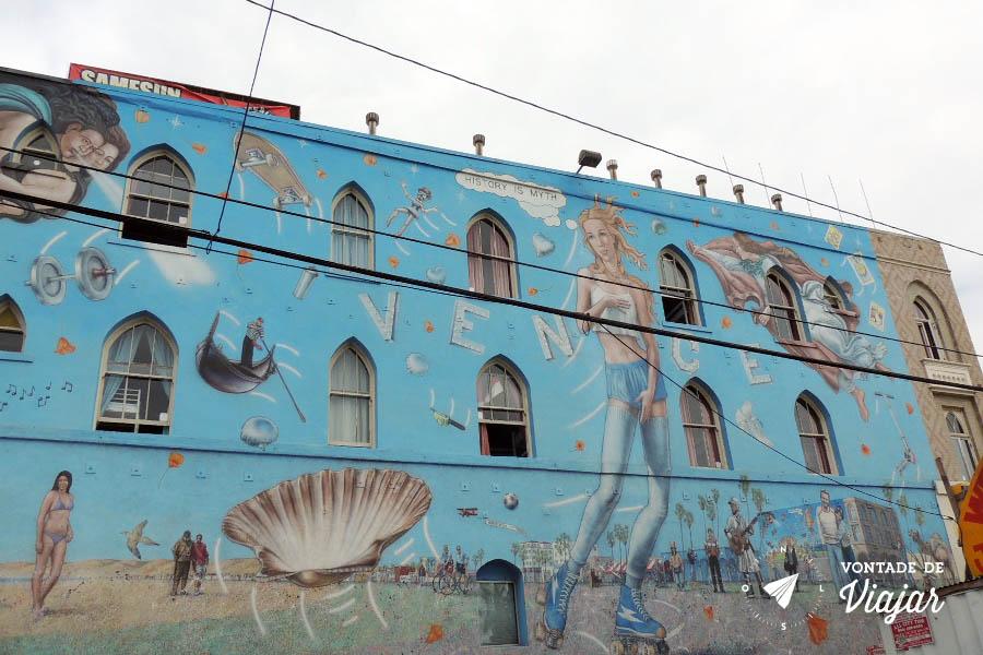 Los Angeles - Mural Nascimento de Venus em Venice Beach