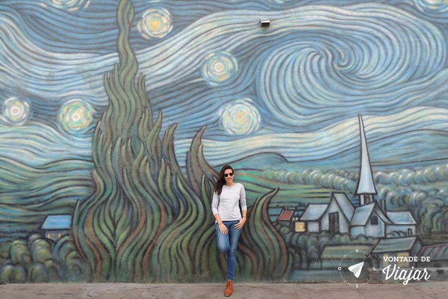 Los Angeles street art - Mural Van Gogh em Venice Beach