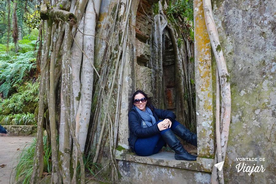 Portugal - Palacio de Monserrate capela em ruinas no jardim