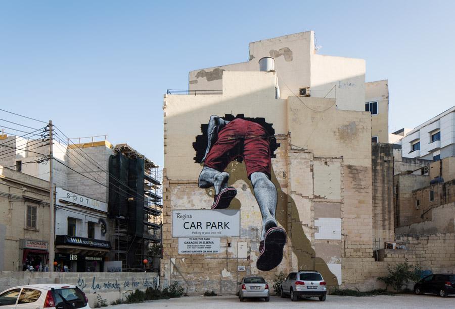 Malta Street Art - Graffiti Malta Italia The Mediterranean Tunnel MTO - Foto Gianni Cipriano NYT