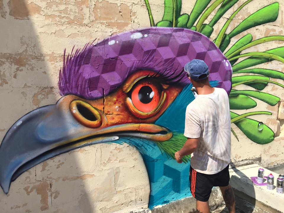 Malta Street Art - Graffiti artista sueco Tim Timmey MSAF festival 2015