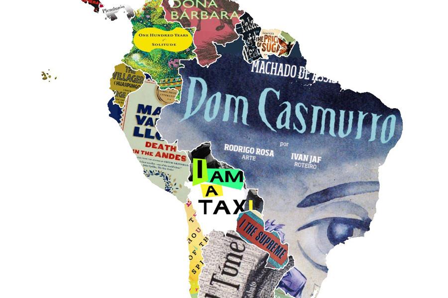 Mapa Mundi Literario - Livros Autores Latinos