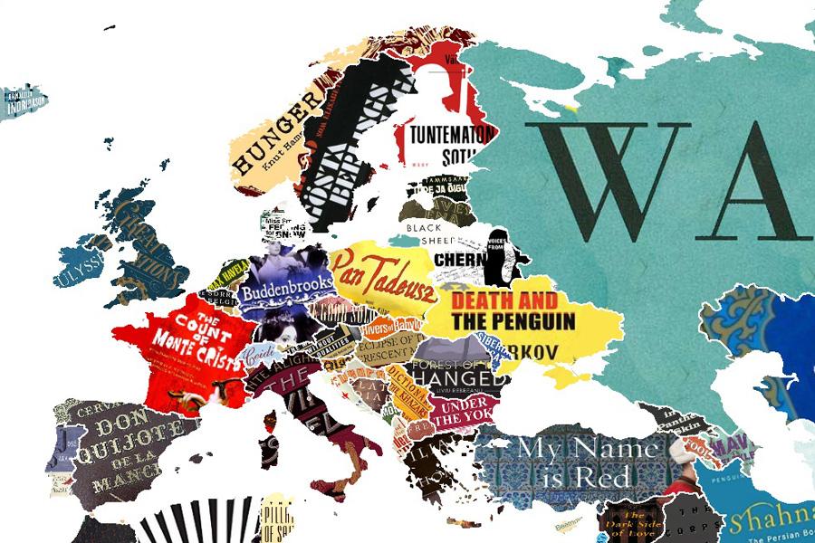 Mapa Mundi Literario - Livros Europeus