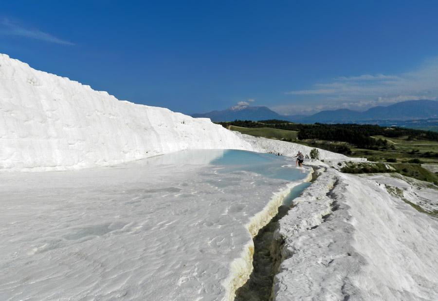 Pamukkale - Montanha branca na Turquia
