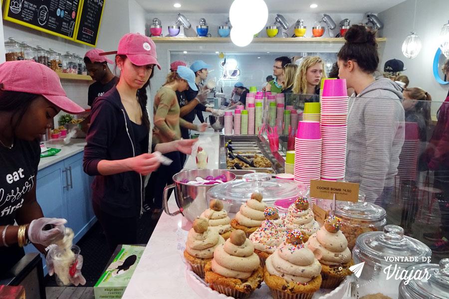Loja doce em Nova York - massa de biscoito