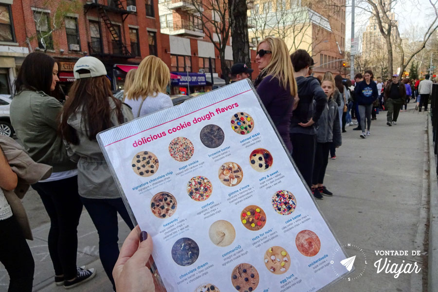 NY bakery com fila na porta - Cookies em Nova York