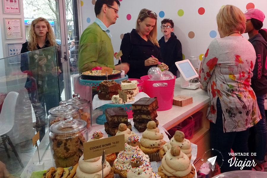 NY loja de cookie que faz fila - Do Confectionery
