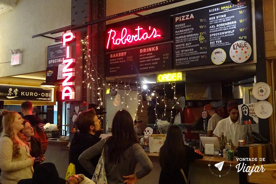 Onde comer em Nova York - Urbanspace Vanderbilt - Robertas Pizza