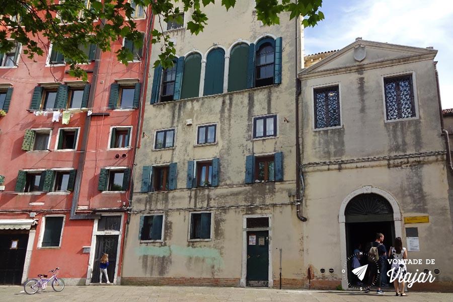 Bairro judaico de Veneza - Museu Hebraico no Ghetto Nuovo