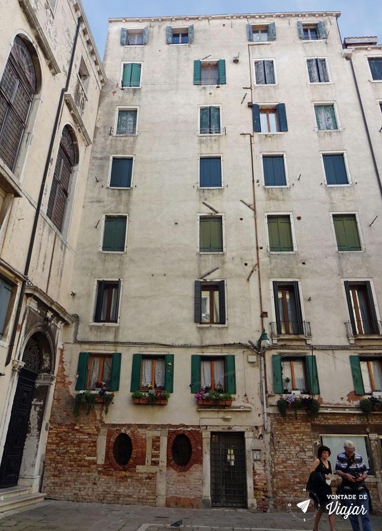 Bairro judaico de Veneza - Predios mais altos de Veneza