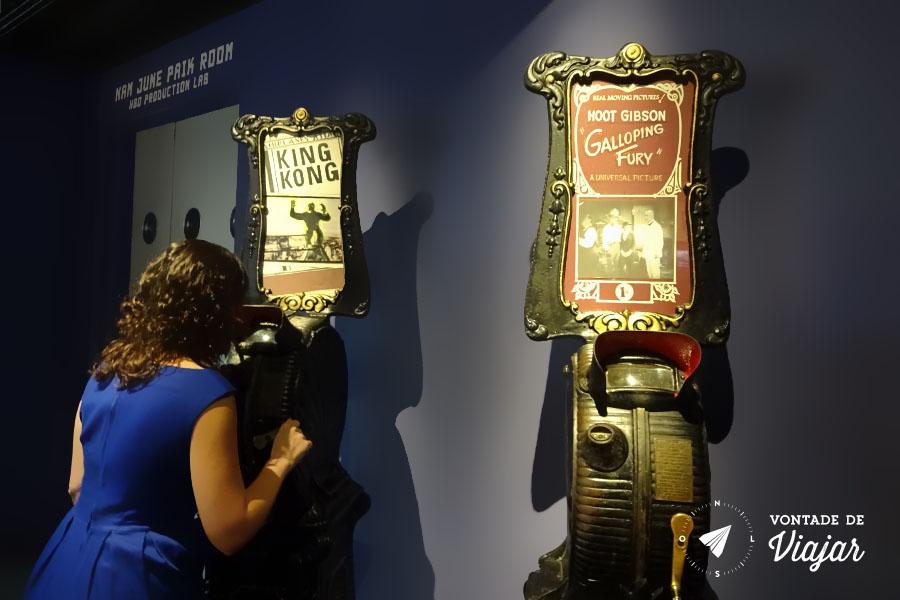 Nova York - Museu do Cinema no Queens - Moving Pictures Machine