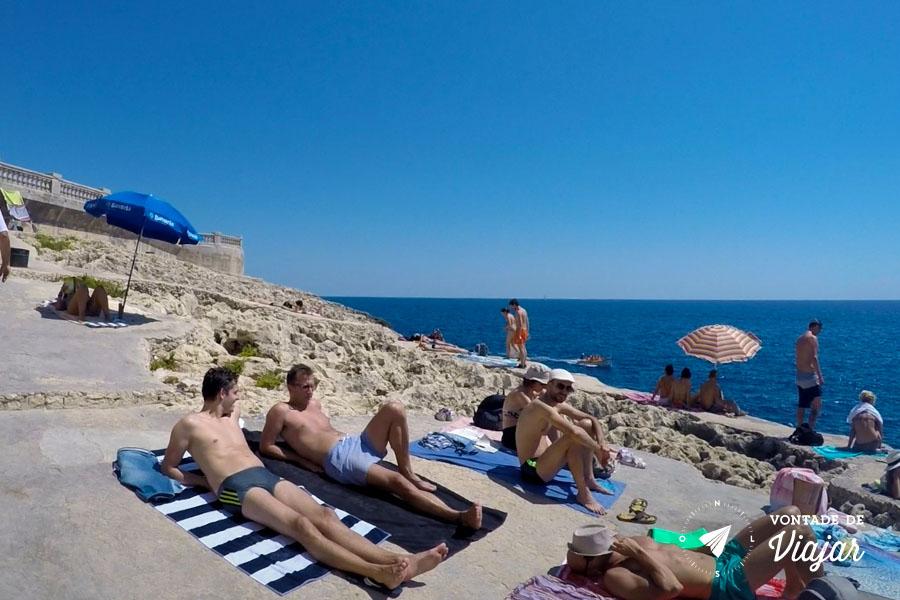 Blue Grotto - Praia sem areia Gruta Azul Malta