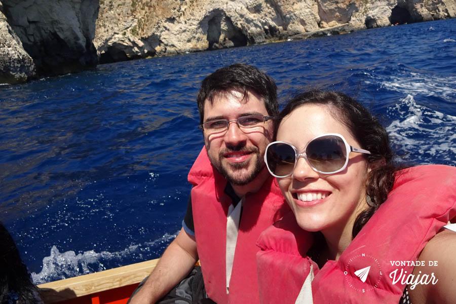 Blue Grotto - passeio de barco na Gruta Azul em Malta