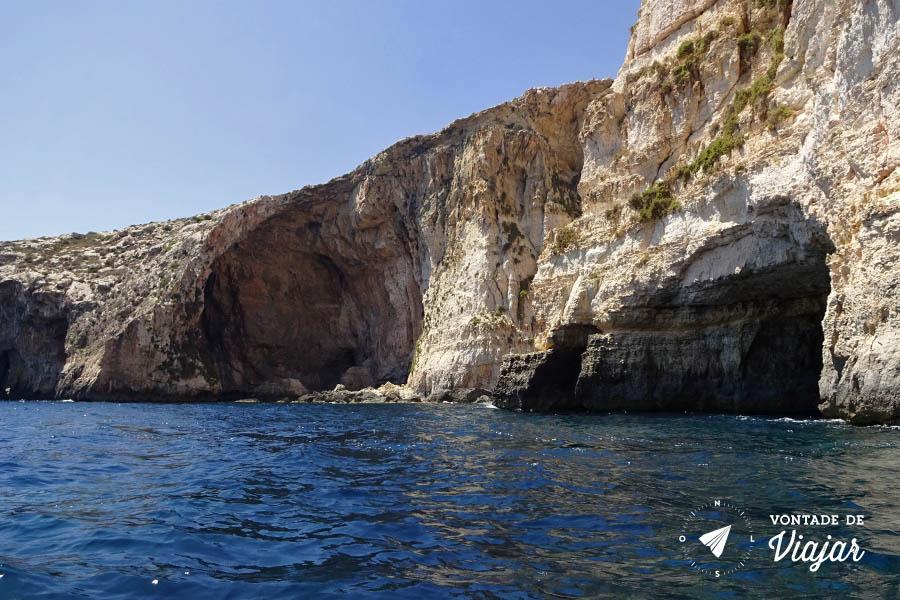 O que fazer em Malta - Blue Grotto cavernas